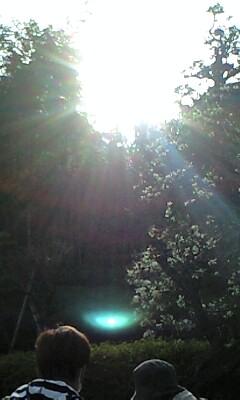 光の道(春分レイライン)♪