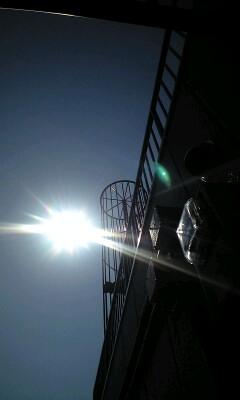 日食間近(*^-^)♪